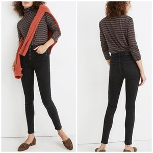 """Madewell 10"""" HR Skinny Jeans Button Front Edition"""